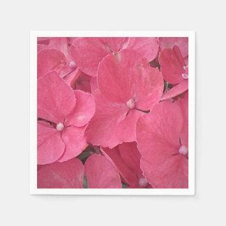 O Hydrangea floresce guardanapo