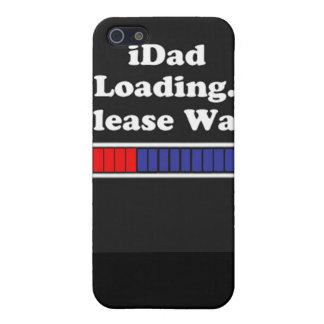 o iDad que carrega por favor espera o capa de ipho iPhone 5 Capas
