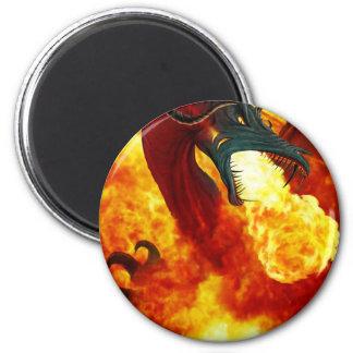 O ímã do dragão do fogo ímã redondo 5.08cm