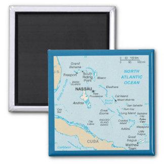 O ímã do mapa de Bahamas Ímã Quadrado