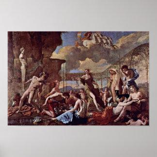 O império da flora por Poussin Nicolas Pôsteres