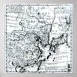 O império de China e de ilha de Japão Pôster