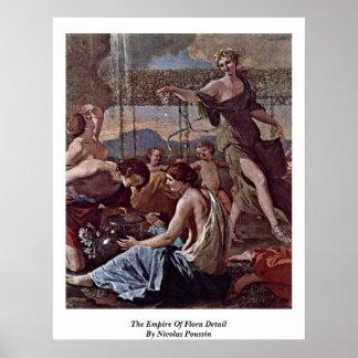 O império do detalhe da flora por Nicolas Poussin Poster