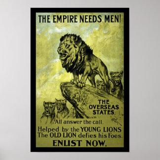 O império precisa homens pôster