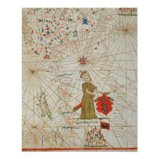 O império turco, de um atlas náutico, 1646 poster