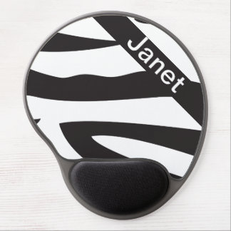 O impressão animal | da zebra preto e branco mouse pad em gel