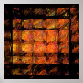 O impressão da arte abstracta da parede