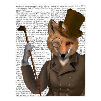 O impressão do Fox do Bounder Cartão Postal