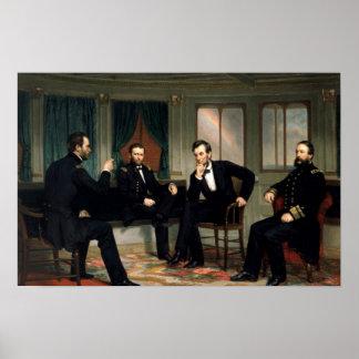 O impressão histórico de Abe Lincoln dos pacificad
