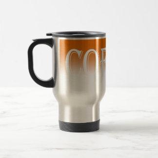 O inclinação alaranjado desvanece-se caneca de caf