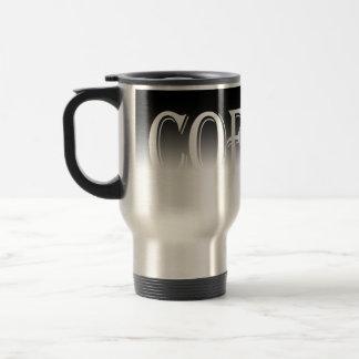 O inclinação preto desvanece-se caneca de café
