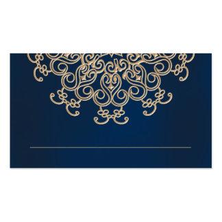 O indiano do marinho e do ouro inspirou o cartão cartão de visita