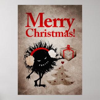 O inseto mau dá o Feliz Natal atual Poster
