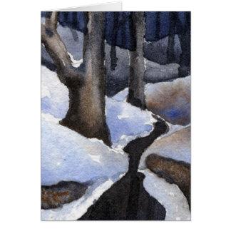 """O """"inverno flui"""" cartão da estrada secundária #2"""