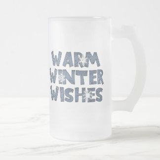 O inverno morno deseja a caneca do fosco