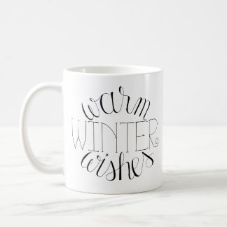 O inverno morno deseja caneca Mão-Indicada por