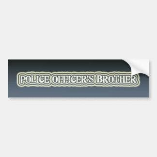 O irmão do agente da polícia adesivo para carro