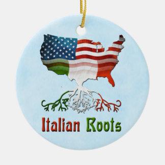 O italiano Amrican enraíza decorações Ornamento De Cerâmica Redondo