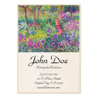 O jardim da íris em Giverny Claude Monet legal, ve Cartoes De Visita