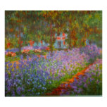 O jardim de Monet por Claude Monet Impressão