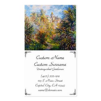 O jardim de Moreno em Bordighera, Claude Monet Cartão De Visita