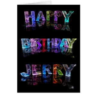 O Jerry conhecido nas luzes 3D (fotografia) Cartão Comemorativo