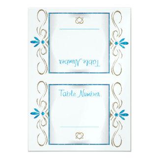 O judaísmo floresce (os cartões do número da mesa) convite 12.7 x 17.78cm