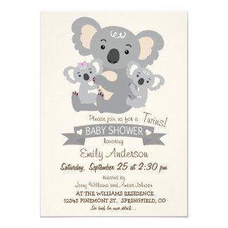 O Koala bonito junta o chá de fraldas Convite 12.7 X 17.78cm