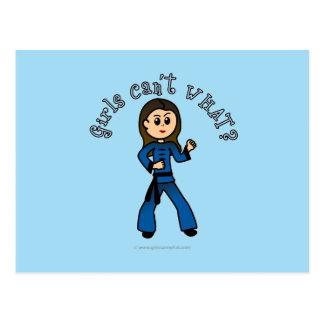 O Kung Fu das mulheres claras Cartão Postal