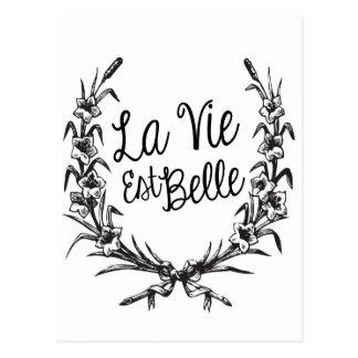 O La Vie o Belle do Est Cartão Postal