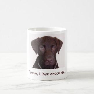 O laboratório do chocolate, Mmmm, eu amo o Caneca De Café