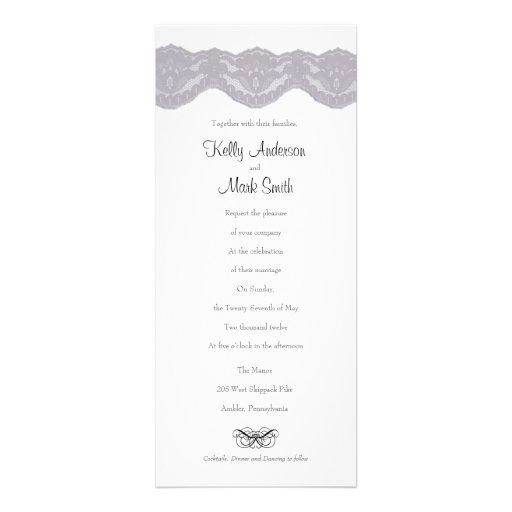 O laço do casamento cinzento & preto convida convite