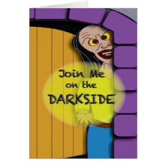O lado escuro do Dia das Bruxas Cartão Comemorativo
