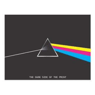 o lado escuro do impressão cartão postal