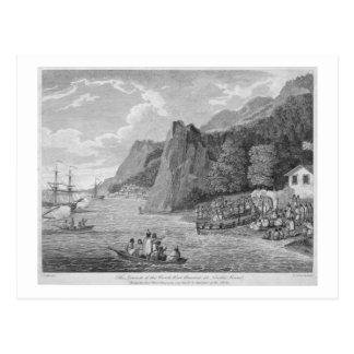 O lançamento da América noroeste em Nootka Sou Cartão Postal