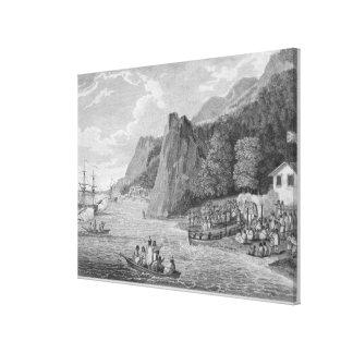 O lançamento da América noroeste em Nootka Sou Impressão Em Tela Canvas