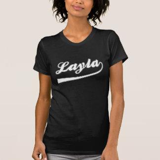 O Layla conhecido em um t-shirt escuro