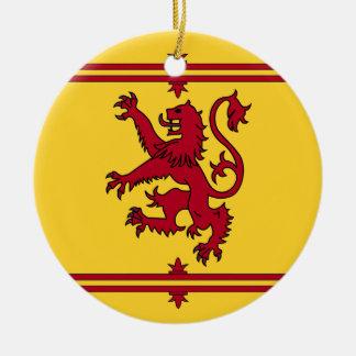 O leão desenfreado de Scotland Ornamento De Cerâmica