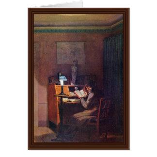 O leitor elegante por Kersting Georg Friedrich Cartão Comemorativo
