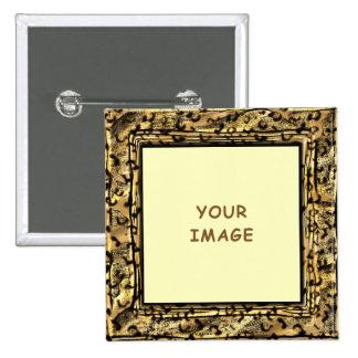 O leopardo mancha o botão do quadro da foto boton