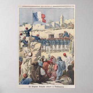 O levantamento da bandeira francesa em Timbuktu Poster