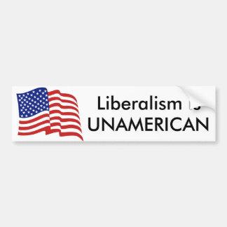 O liberalismo é NÃO AMERICANO Adesivo Para Carro