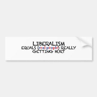O liberalismo iguala as pessoas reais que obtêm adesivo para carro
