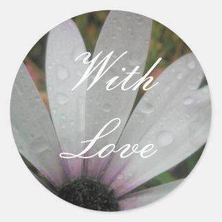 O Lilac ilumina a margarida do casamento Adesivo