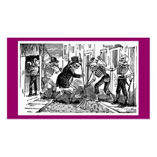 """""""O líquido de limpeza de rua feliz Calaveras """" Cartão De Visita"""