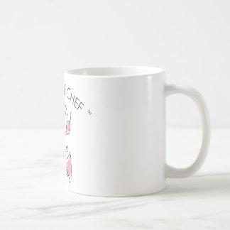 O logotipo do cozinheiro chefe do biquini caneca de café