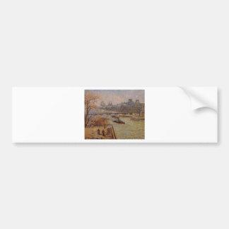 O Louvre por Camille Pissarro Adesivo Para Carro