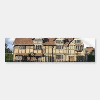 O lugar de nascimento de Shakespeare em Stratford Adesivo Para Carro