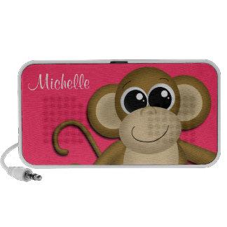O macaco bonito personalizou o auto-falante do Doo Caixinha De Som Para Viagem