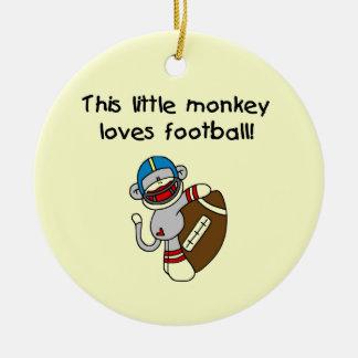 O macaco da peúga ama o camiseta e os presentes do ornamento de cerâmica redondo